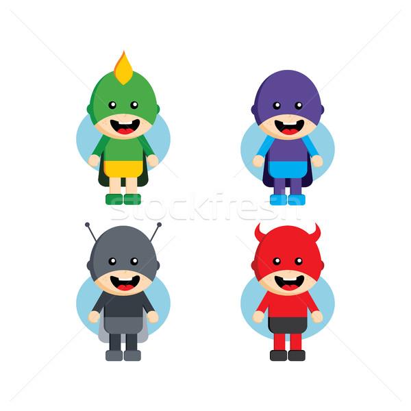 Flat style superhero character Stock photo © vector1st