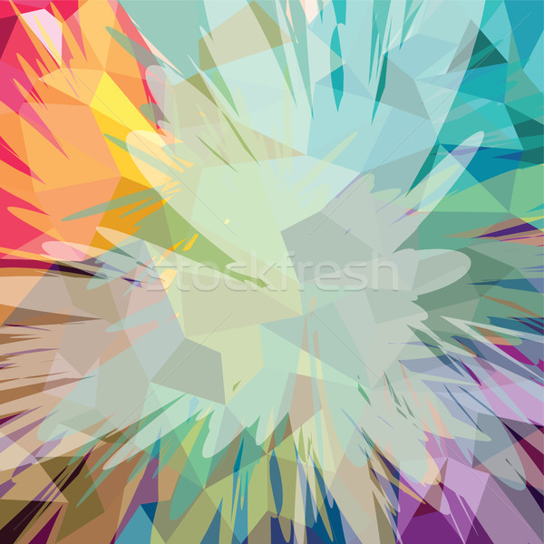 Abstract colorful triangle geometrical background Stock photo © vector1st