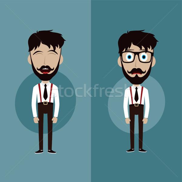 ストックフォト: ビジネスマン · オフィス · 男 · 面白い · デザイン