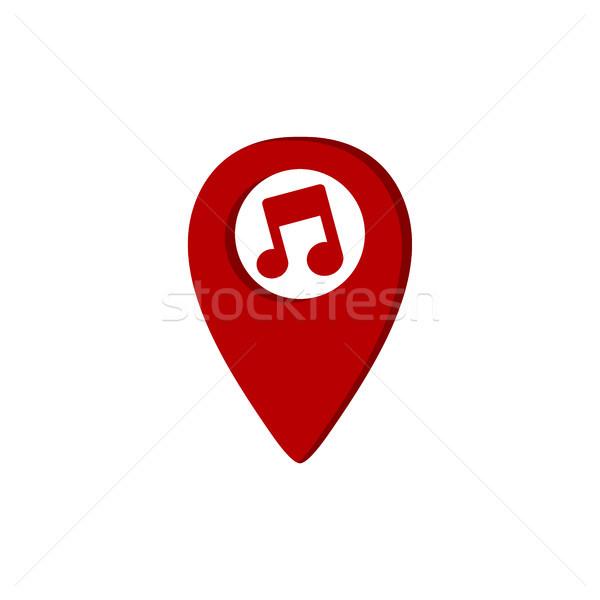 музыку GPS расположение икона ключевые сведению Сток-фото © vector1st