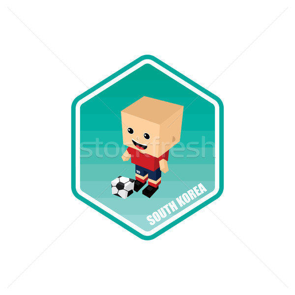 soccer isometric theme south korea Stock photo © vector1st