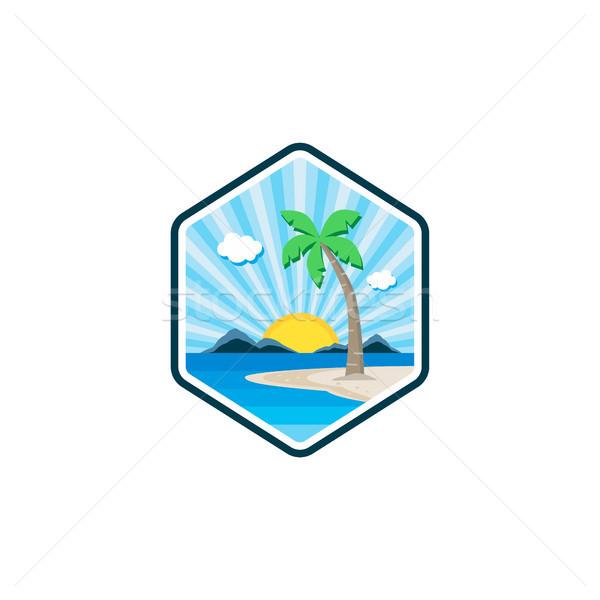Vacances d'été vacances vecteur art illustration mer Photo stock © vector1st