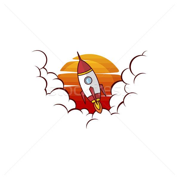 пространстве ракета запуск вектора искусства солнце Сток-фото © vector1st