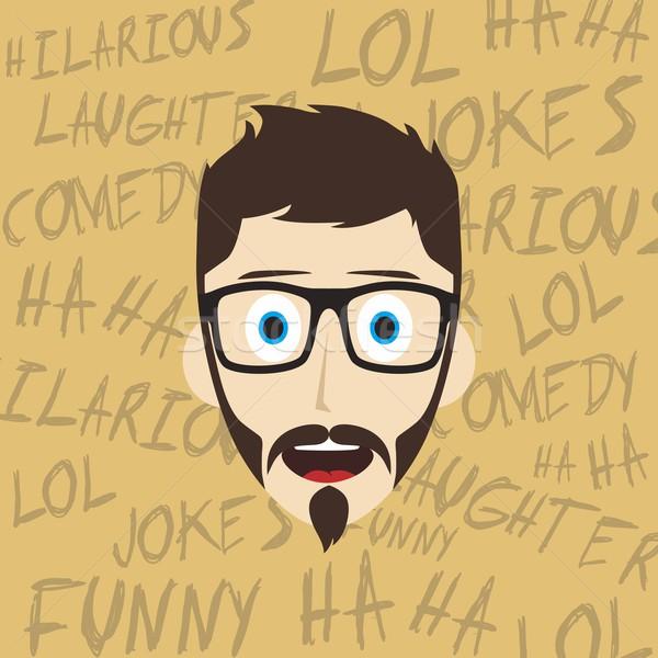 смешные смеясь парень мужчины Сток-фото © vector1st