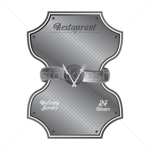 food and drink restaurant theme Stock photo © vector1st