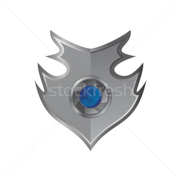 Kalkan sanat örnek vektör grafik dizayn Stok fotoğraf © vector1st