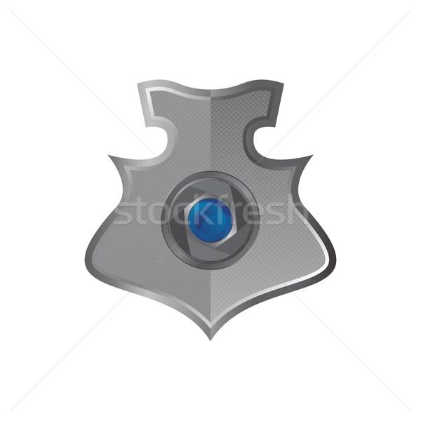 Escudo arte ilustração vetor gráfico projeto Foto stock © vector1st