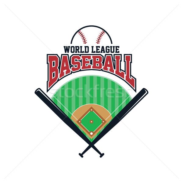 бейсбольной лига спорт вектора искусства иллюстрация Сток-фото © vector1st