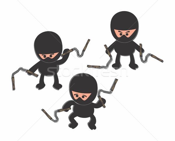 Cartoon ninja vector grafische kunst Stockfoto © vector1st