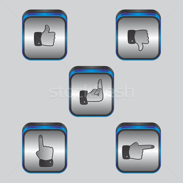 hand gesture theme Stock photo © vector1st