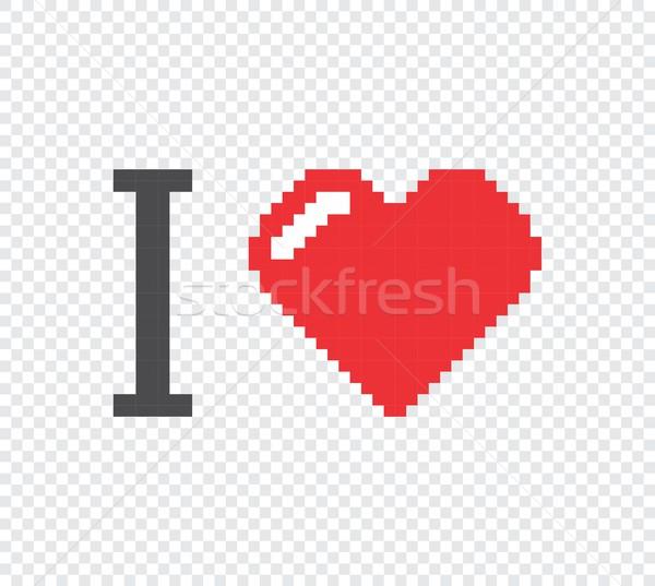 Pixel művészet vektor grafikus terv illusztráció Stock fotó © vector1st