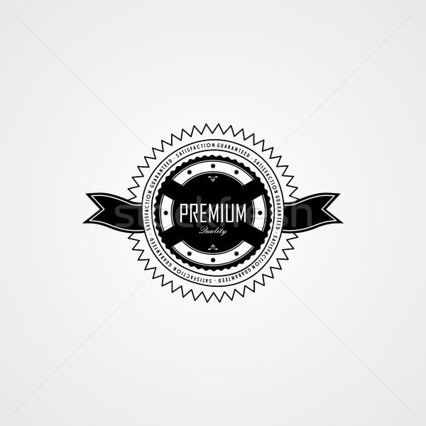 Prima calidad placa etiqueta vector arte Foto stock © vector1st
