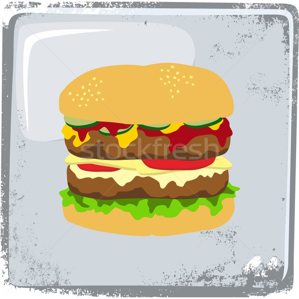 food and drink theme burger Stock photo © vector1st
