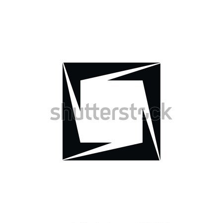 Driehoek logo kunst business teken Stockfoto © vector1st