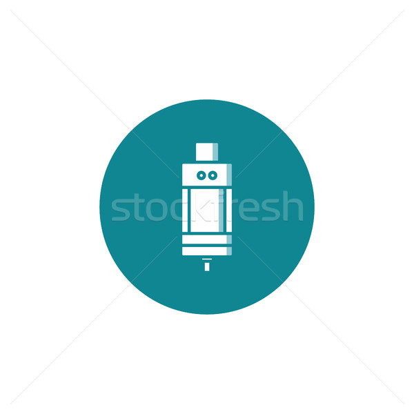 Személyes tank vektor művészet felhő retro Stock fotó © vector1st