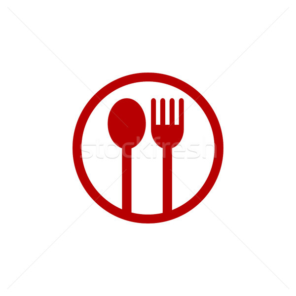 étterem alkalmazás logo sablon vektor művészet Stock fotó © vector1st