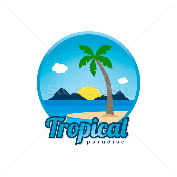 ビーチ 時間 熱帯の島 夏休み ベクトル 芸術 ストックフォト © vector1st