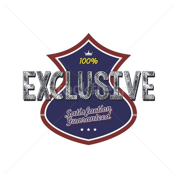 Ekskluzywny jakości odznakę produktu wektora sztuki Zdjęcia stock © vector1st