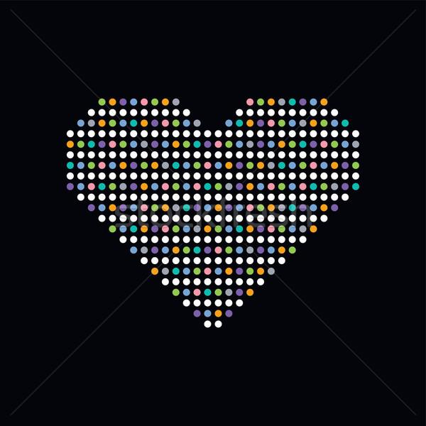 heart colorful dot theme art Stock photo © vector1st