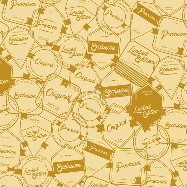 Címke matrica szerkeszthető eps formátum grafikus Stock fotó © vector1st