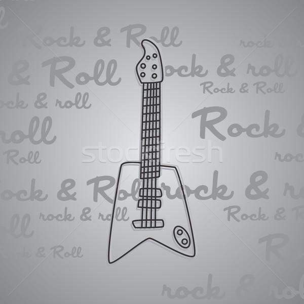 Rock rotolare chitarra vettore arte illustrazione Foto d'archivio © vector1st
