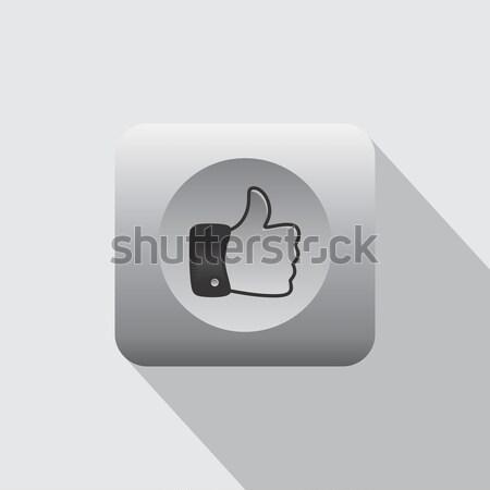 Kézmozdulat felirat vektor művészet illusztráció kéz Stock fotó © vector1st