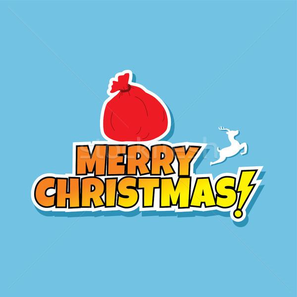 Mikulás karácsony ajándék táska zsák Stock fotó © vector1st