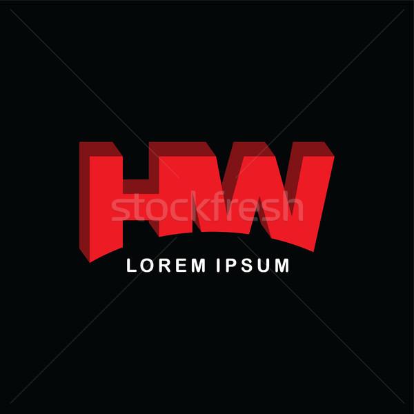 赤 手紙 ブランド ロゴ テンプレート ロゴタイプ ストックフォト © vector1st