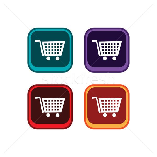 color app icon button game asset theme vector Stock photo © vector1st