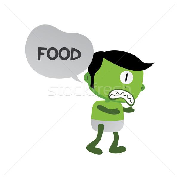 Foto stock: Verde · zombi · monstruo · carácter · vector · arte