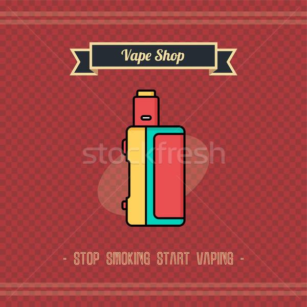 Retro elektrische sigaret damp leven vector Stockfoto © vector1st