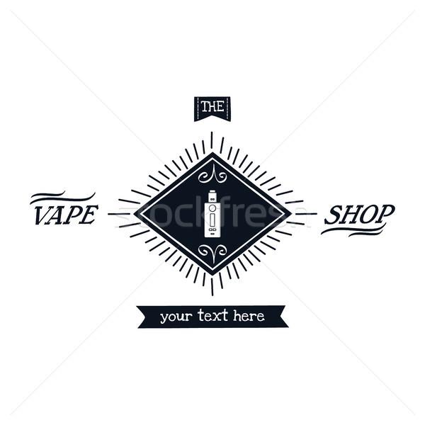 электрических сигарету личные вектора искусства улыбка Сток-фото © vector1st