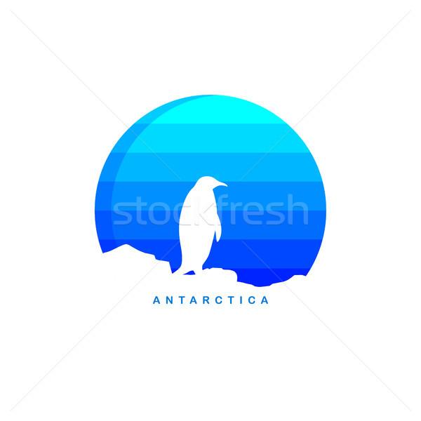 antarctica theme ice berg logo template Stock photo © vector1st