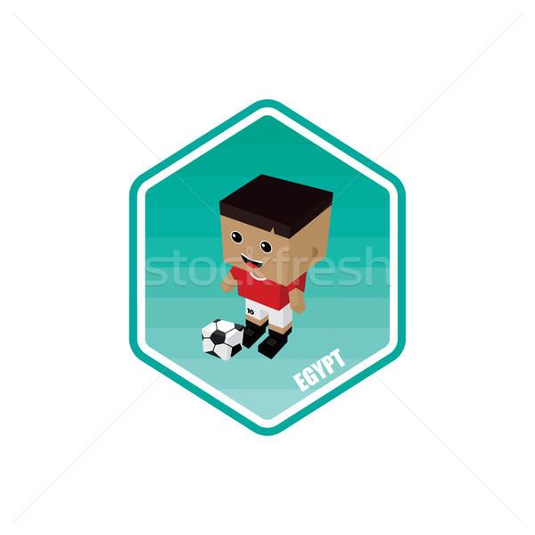 サッカー アイソメトリック エジプト ベクトル 芸術 漫画 ストックフォト © vector1st
