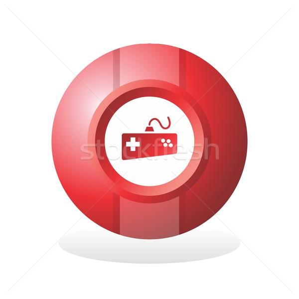 Düğme ikon sanat vektör grafik dizayn Stok fotoğraf © vector1st
