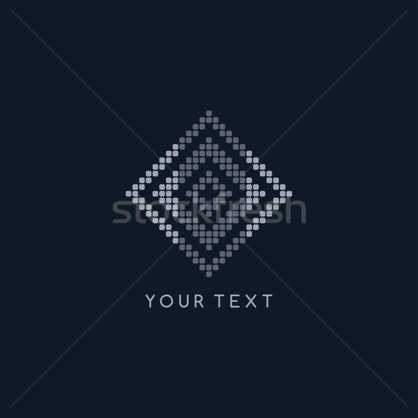 pixel logo template theme Stock photo © vector1st