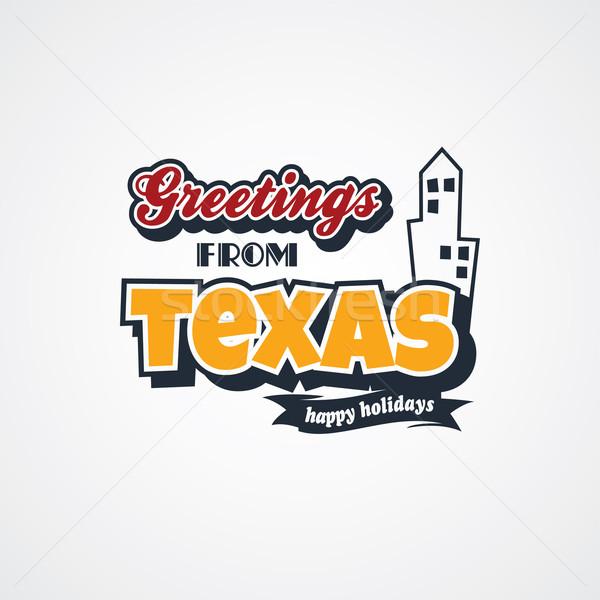 Texas vacaciones vector arte ilustración Foto stock © vector1st