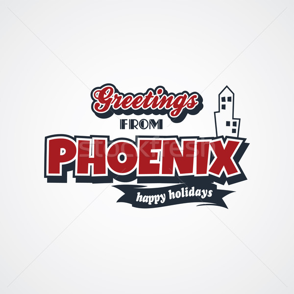 phoenix vacation greetings theme Stock photo © vector1st