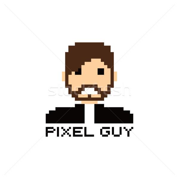 Pixel emberek avatar fickó vektor művészet Stock fotó © vector1st