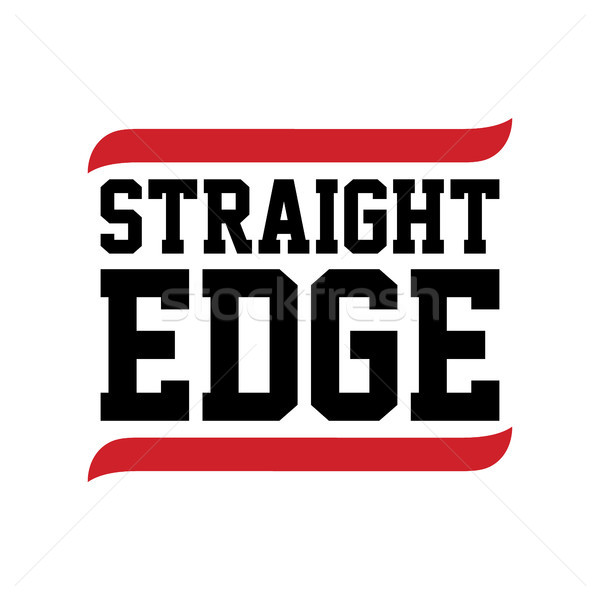 ストレート エッジ 黒 赤 文字 白 ストックフォト © vector1st