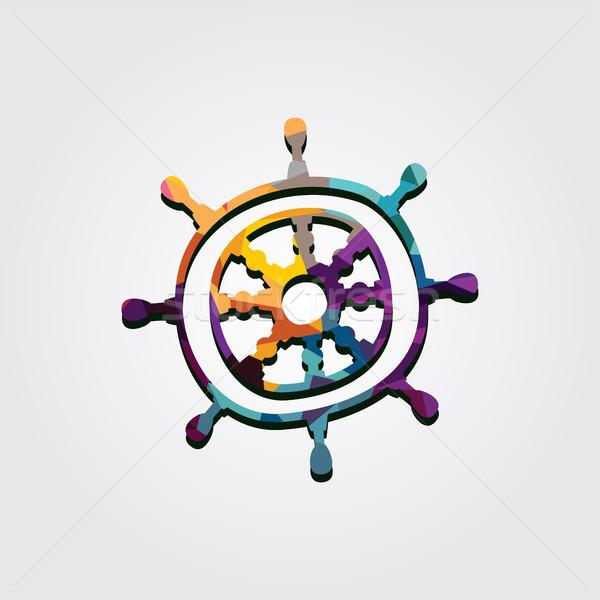 Abstract kleurrijk driehoek meetkundig piraat Stockfoto © vector1st