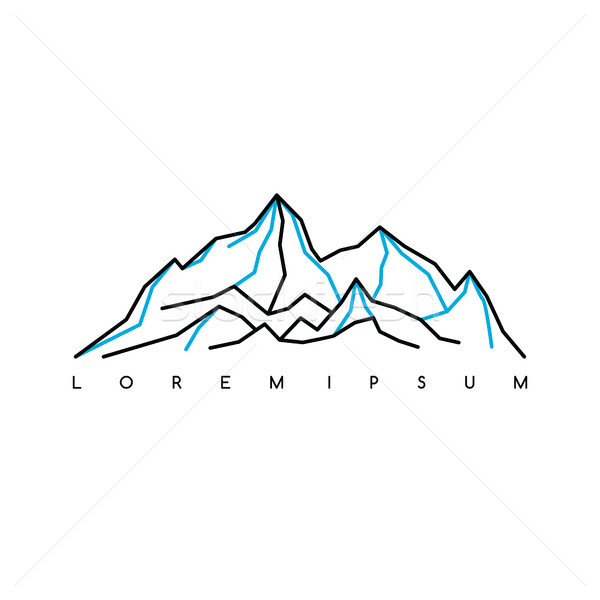 Mountain Everest outdoor adventure insignia Climbing trekking hiking mountaineering and other extrem Stock photo © vector1st