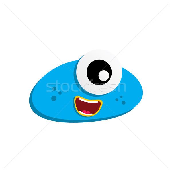 Cute godny podziwu brzydkie scary funny maskotka Zdjęcia stock © vector1st
