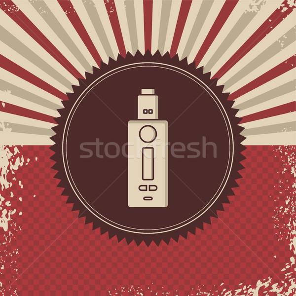 Retro elektrik sigara buhar hayat vektör Stok fotoğraf © vector1st