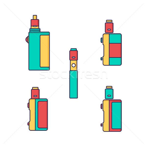 Elettrici sigaretta vapori vita vettore uomo Foto d'archivio © vector1st