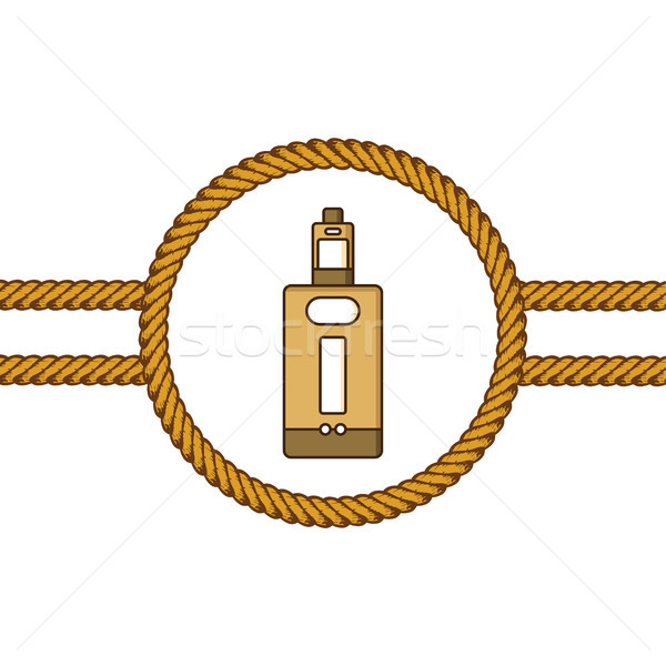 vaporizer electric cigarette lasso rope vector Stock photo © vector1st