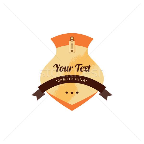 Elétrico cigarro distintivo etiqueta modelo vetor Foto stock © vector1st