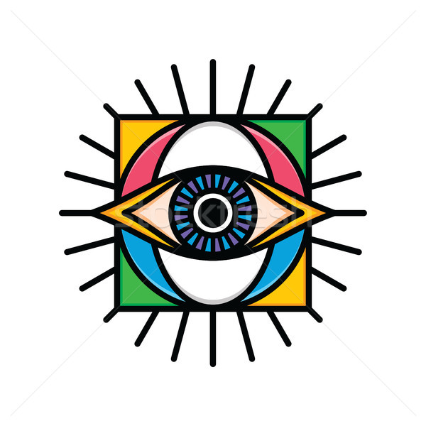 one eye sign symbol logo logotype Stock photo © vector1st