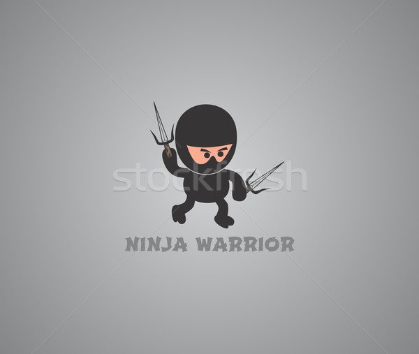 ниндзя характер вектора графических искусства дизайна Сток-фото © vector1st