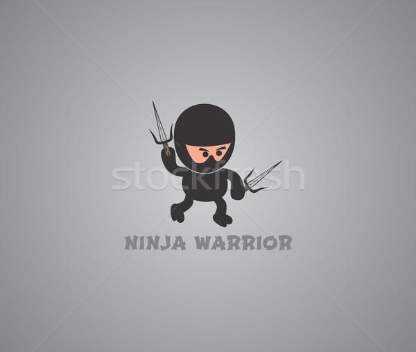 Ninja vetor gráfico arte projeto Foto stock © vector1st